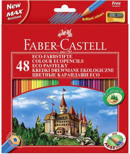 Creioane color 48/set Faber-Castell Eco